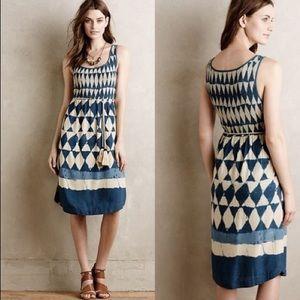 Maeve Castalia Indigo Tassel Dress 2 Petite